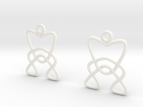 Celtic Weave Earrings - WE006 in White Processed Versatile Plastic