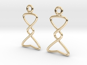Celtic Weave Earrings - WE007 in 14k Gold Plated Brass