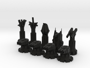 War Chess in Black Natural Versatile Plastic