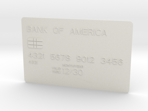 Bank card in White Natural Versatile Plastic