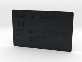 Bank card in Black Hi-Def Acrylate