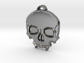 Vampire Skull in Polished Silver: Medium