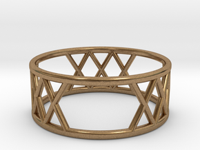 XXX Ring Size-7 in Natural Brass