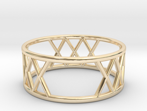 XXX Ring Size-7 in 14K Yellow Gold