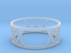 XXX Ring Size-8 in Smooth Fine Detail Plastic