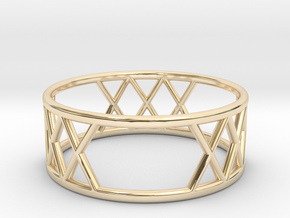 XXX Ring Size-8 in 14k Gold Plated Brass