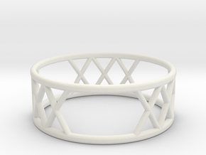 XXX Ring SIZE-9 in White Natural Versatile Plastic