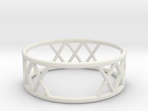 XXX Ring Size-10 in White Natural Versatile Plastic