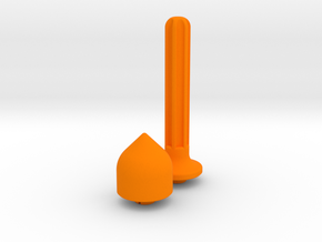 Convert Fidget Spinner to Spinning Top in Orange Processed Versatile Plastic