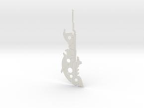 """BotW"" Ancient Battle Axe++ in White Natural Versatile Plastic: 1:12"