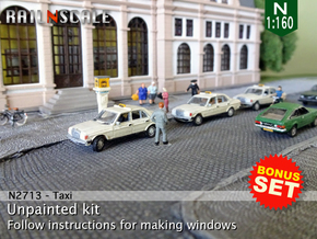 BONUS SET Taxi (N 1:160) in Frosted Ultra Detail
