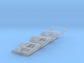 1:72 3x Stairs 4 in Smooth Fine Detail Plastic