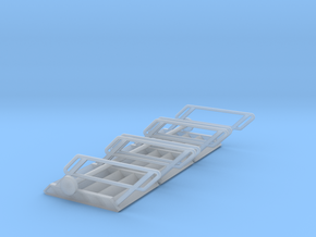 1:72 3x Stairs 5 in Smooth Fine Detail Plastic