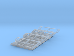 1:72 3x Stairs 7 in Smooth Fine Detail Plastic