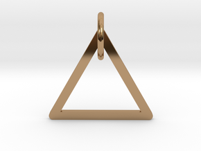 "Keychain ""Triangle"" in Polished Brass (Interlocking Parts)"