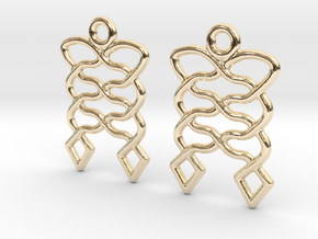 Celtic Weave Earrings - WE008 in 14k Gold Plated Brass