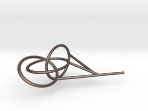 Three Link Knot bubble surface in Polished Bronzed Silver Steel