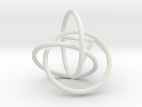 tripple link knot bubble surface in White Natural Versatile Plastic