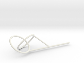 Two Link Knot bubble surface in White Natural Versatile Plastic