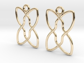 Celtic Weave Earrings - WE012 in 14k Gold Plated Brass