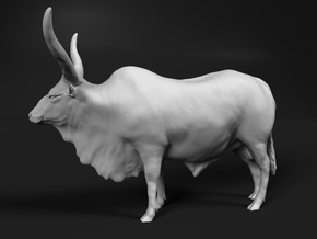 Ankole-Watusi 1:87 Standing Male in Smooth Fine Detail Plastic