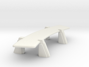 Conference Table (Star Trek Next Generation) in White Natural Versatile Plastic: 1:30
