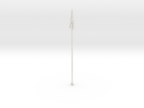 """""""BotW"""" Feathered Spear in White Natural Versatile Plastic: 1:12"""