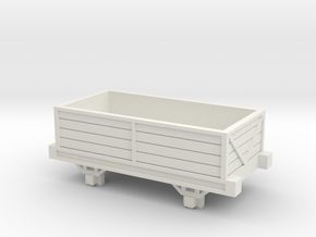 OO9 Talyllyn / Skarloey Railway Open Wagon Type 2 in White Natural Versatile Plastic