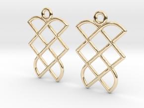 Celtic Weave Earrings - WE013 in 14k Gold Plated Brass
