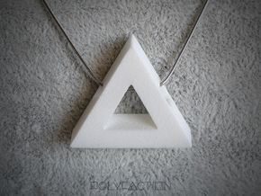 40 Degree ::: Triangle Pendant ::: v.01 in White Strong & Flexible Polished