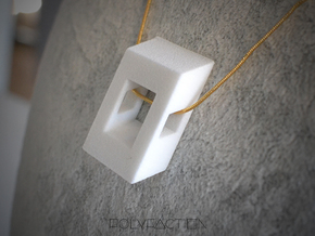 40 Degree ::: Square Pendant ::: v.01 in White Processed Versatile Plastic