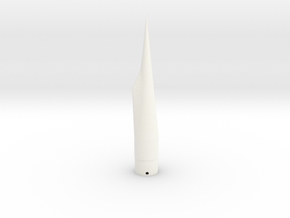 Classic estes-style 'falcon' cone PNC-50SP replace in White Processed Versatile Plastic