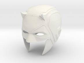 Daredevil: Netflix Season 1 cowl/helmet  in White Natural Versatile Plastic