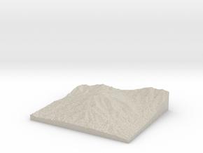 Model of Sharp Top Mountain in Sandstone