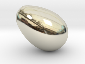 The Golden Goose Nest Egg in 14k White Gold