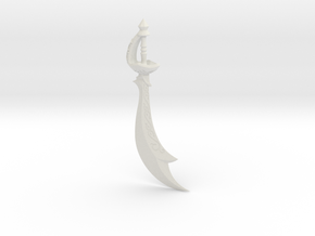 """BotW"" Scimitar of the Seven in White Natural Versatile Plastic: 1:12"
