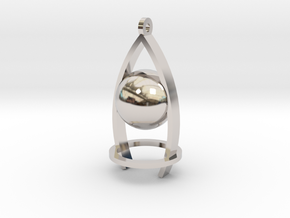 Melancholy ball earing in Platinum