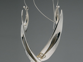 Sweep Array Earring in Polished Silver