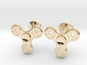 Fidget Spinner Cufflinks - LARGE in 14K Yellow Gold