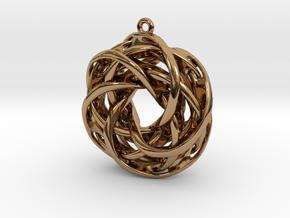 Interlocked tori earrings in Polished Brass