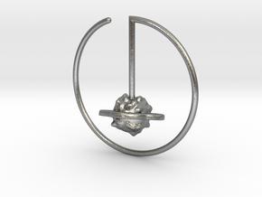 Saturn Suspension Hoop  in Natural Silver