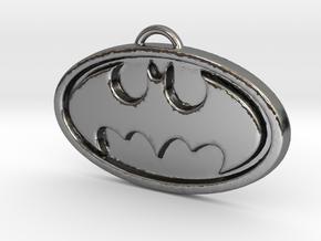 Batman Pendant in Polished Silver