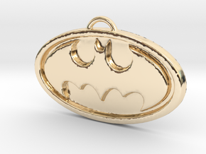 Batman Pendant in 14k Gold Plated Brass