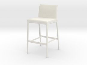 Printle Thing Tabouret 01 - 1/24 in White Natural Versatile Plastic