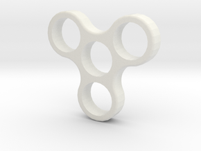 Fidget Spinner Nano  in White Strong & Flexible