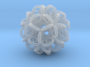 Spiral Fractal Clew in Smooth Fine Detail Plastic