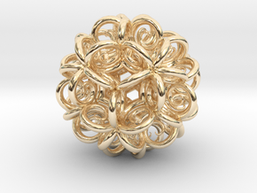 Spiral Fractal Clew in 14K Yellow Gold
