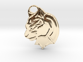 Panther in 14K Yellow Gold: Small