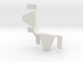 Verticals Valance Return Round Corner 01B in White Strong & Flexible