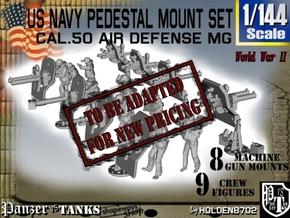 1/144 US Navy  AA M Gun Pedestal Mount in Transparent Acrylic